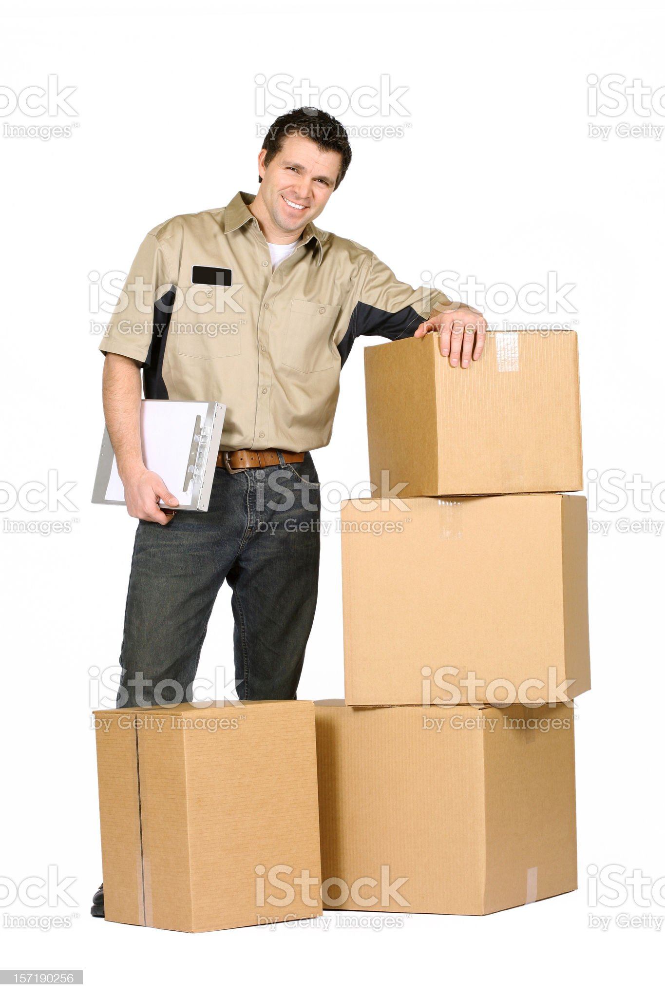 Deliveryman royalty-free stock photo