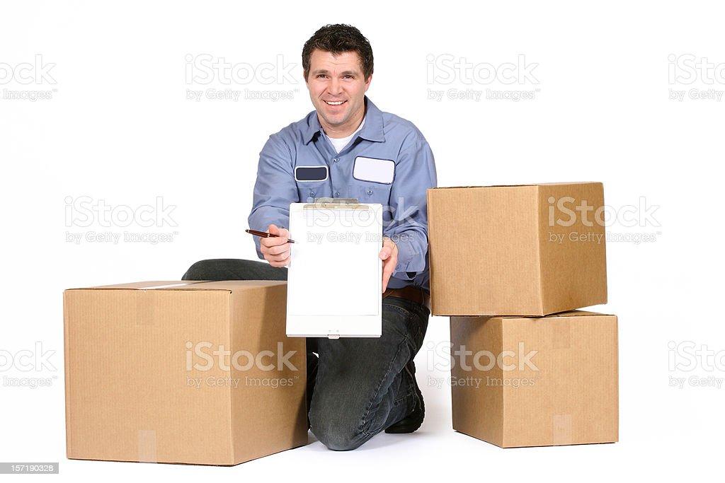 Deliveryman royalty-free stock photo