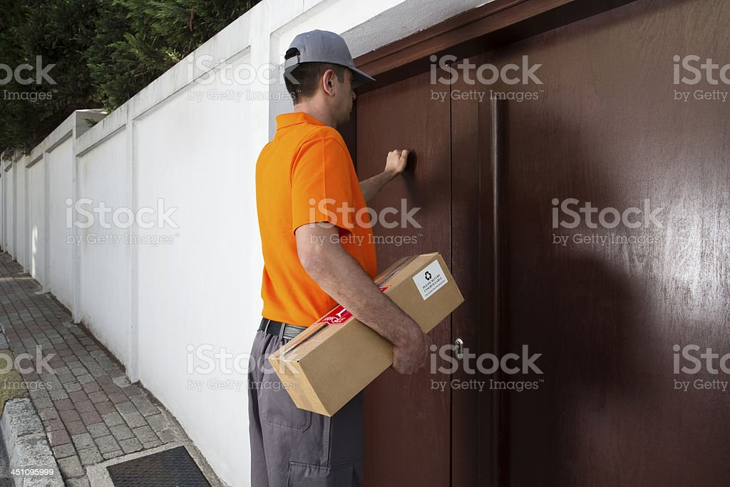 Deliveryman stock photo