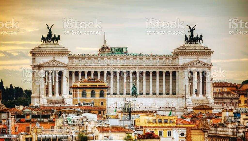 Altare Della Patria monument in Rome, Italy stock photo