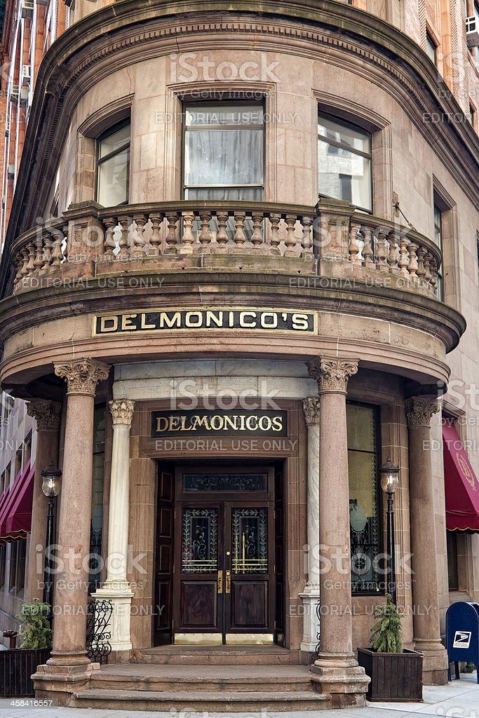 Delmonico's Steak House in New York City stock photo
