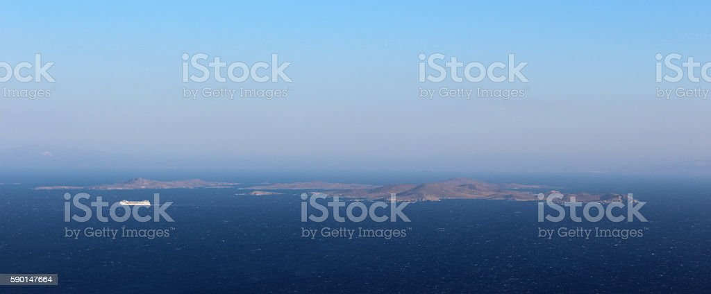 Delos and Rhenia islands stock photo