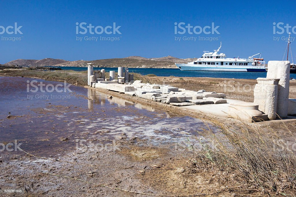 Delos in the Cyclades, Greece stock photo