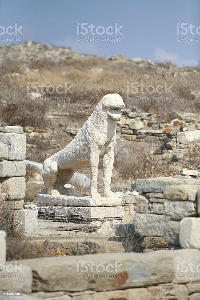 Delos Lions royalty-free stock photo