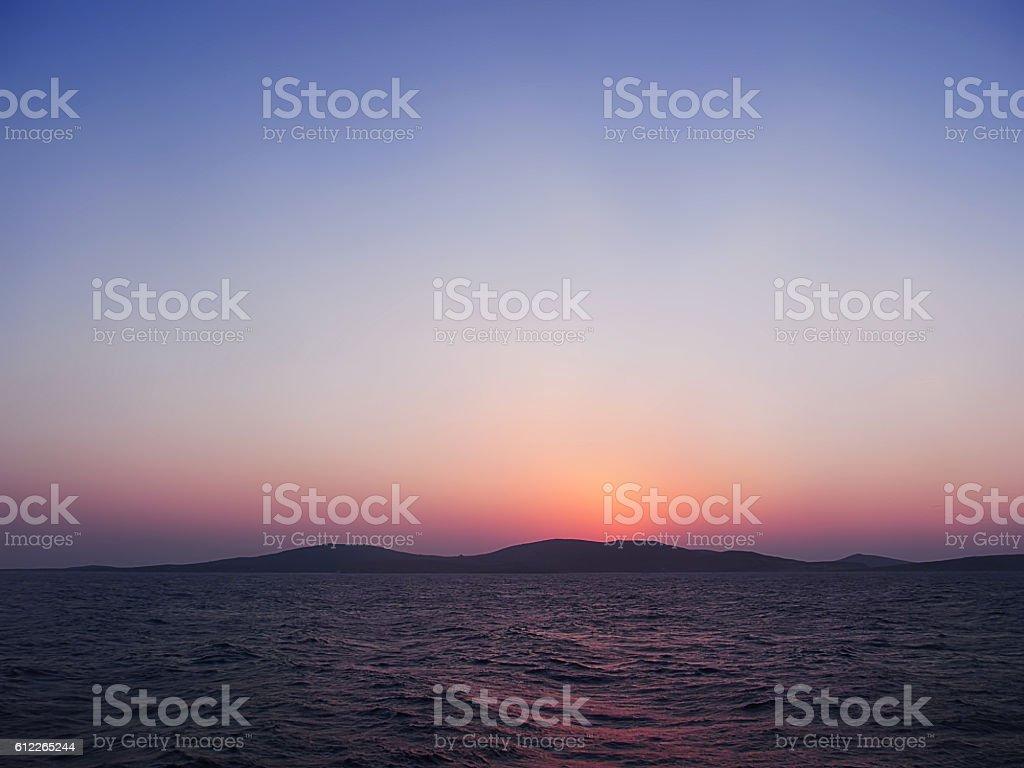 Delos, the island of Apollo stock photo