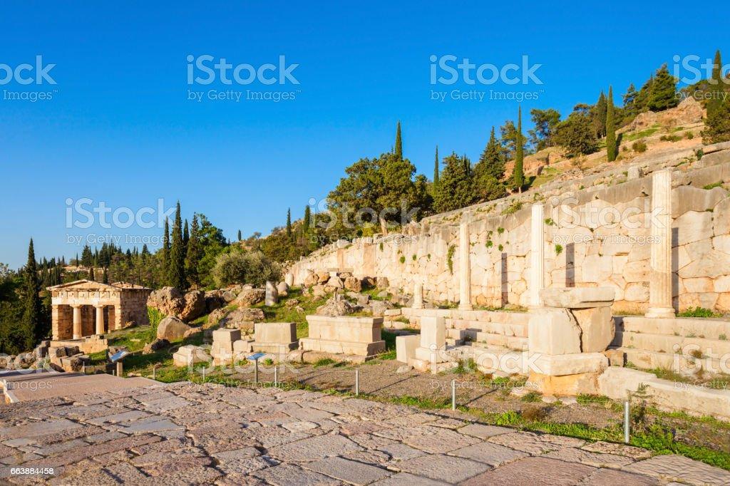 Delphi ancient sanctuary, Greece stock photo