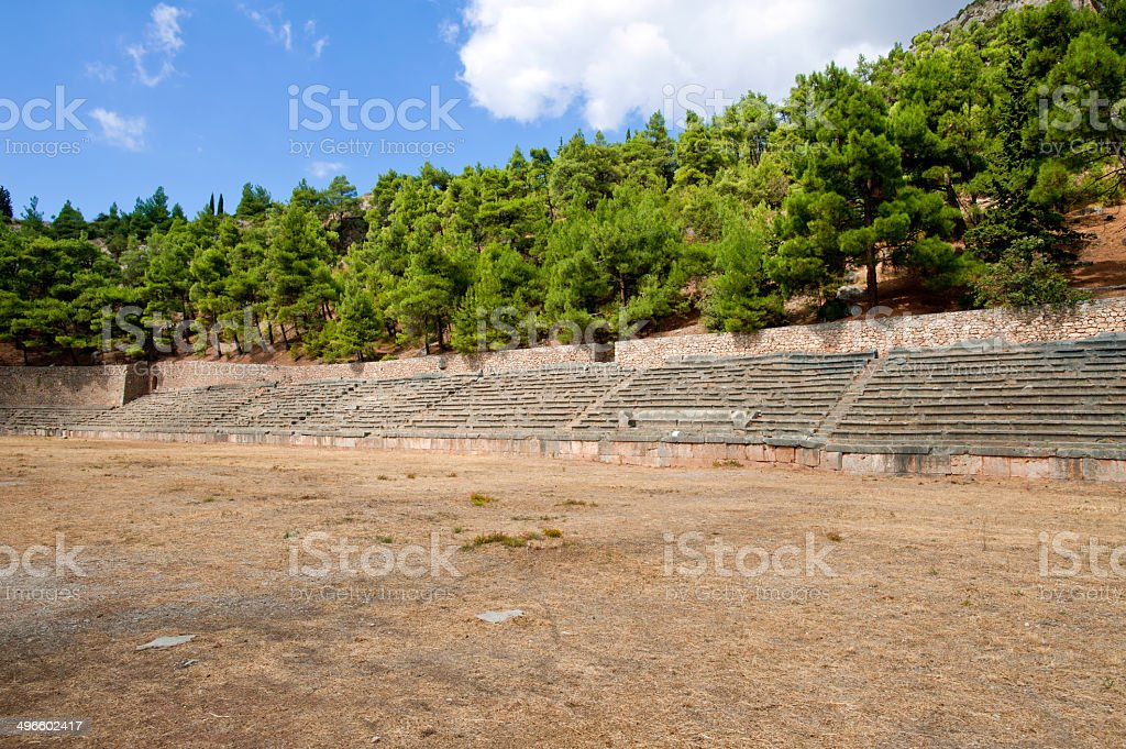 Delphi, Grece stock photo