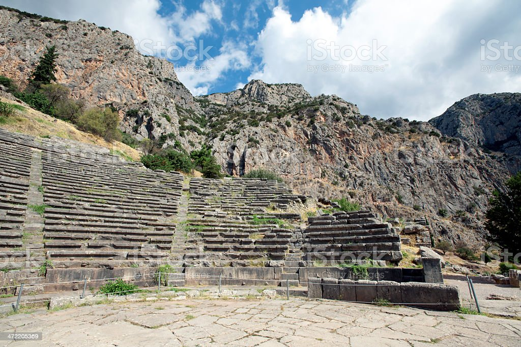 Delphi, Greece royalty-free stock photo