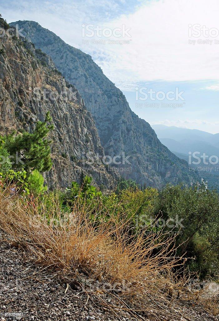 Delphi in Greece. stock photo