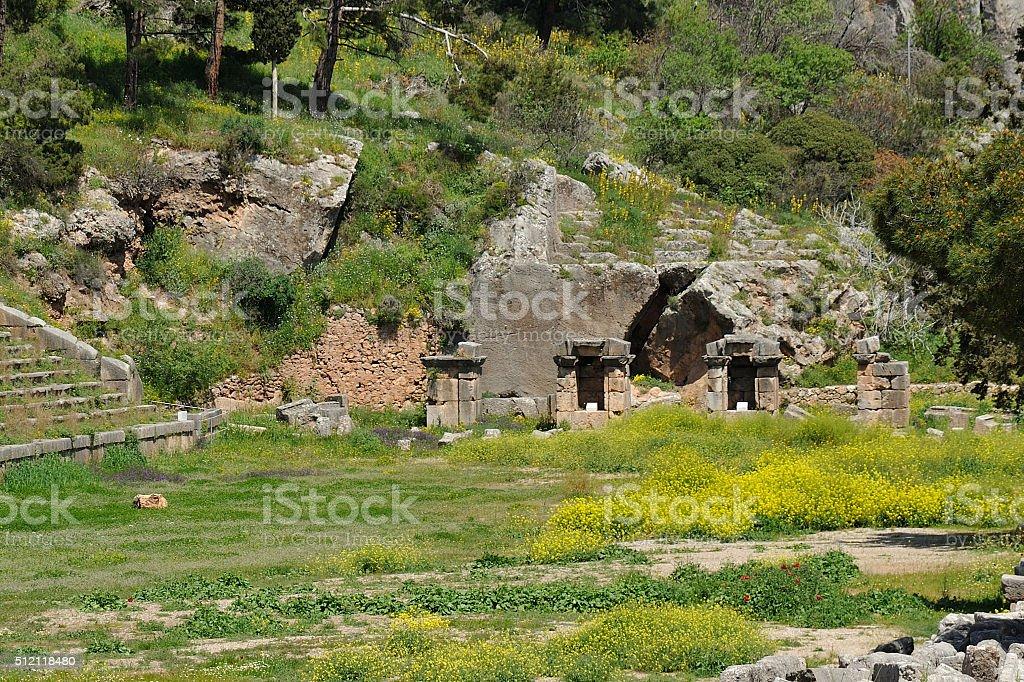 Delphi Pythian Stadium stock photo