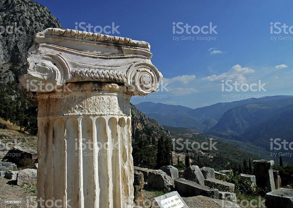 Delphi Ruins, Greece stock photo