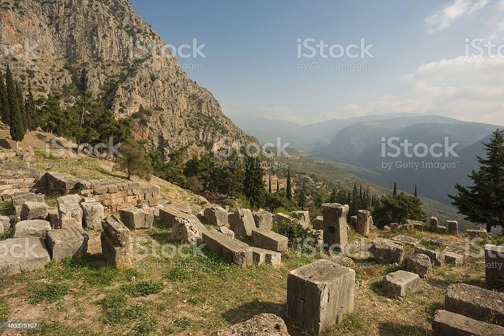 Delphi Ruins stock photo