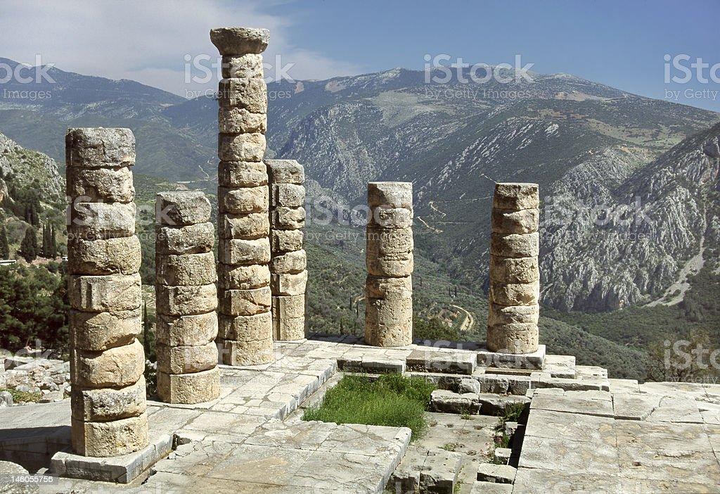 Delphi - The Temple of Apollo stock photo