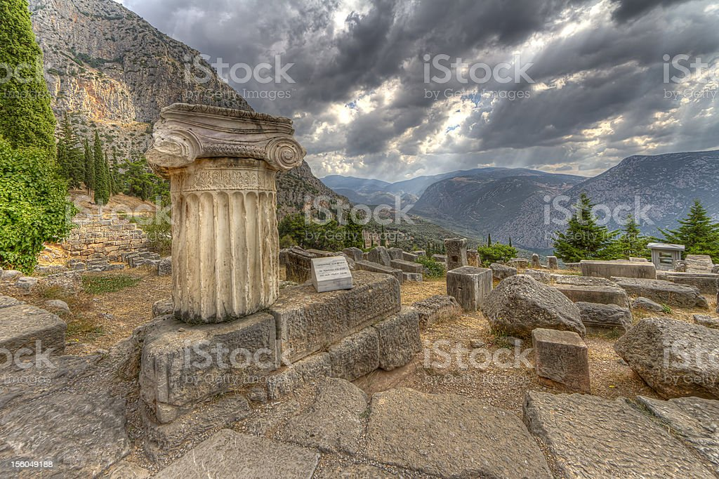 Delphi,Greece stock photo