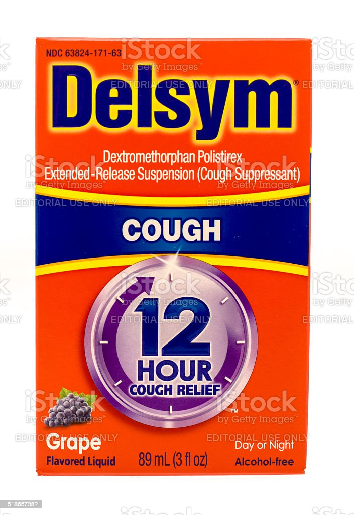 Delsym Cough stock photo