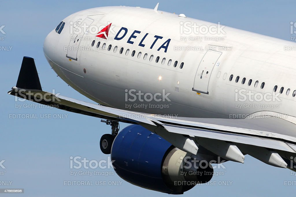 Delta Air Lines Airbus A330-300 airplane stock photo