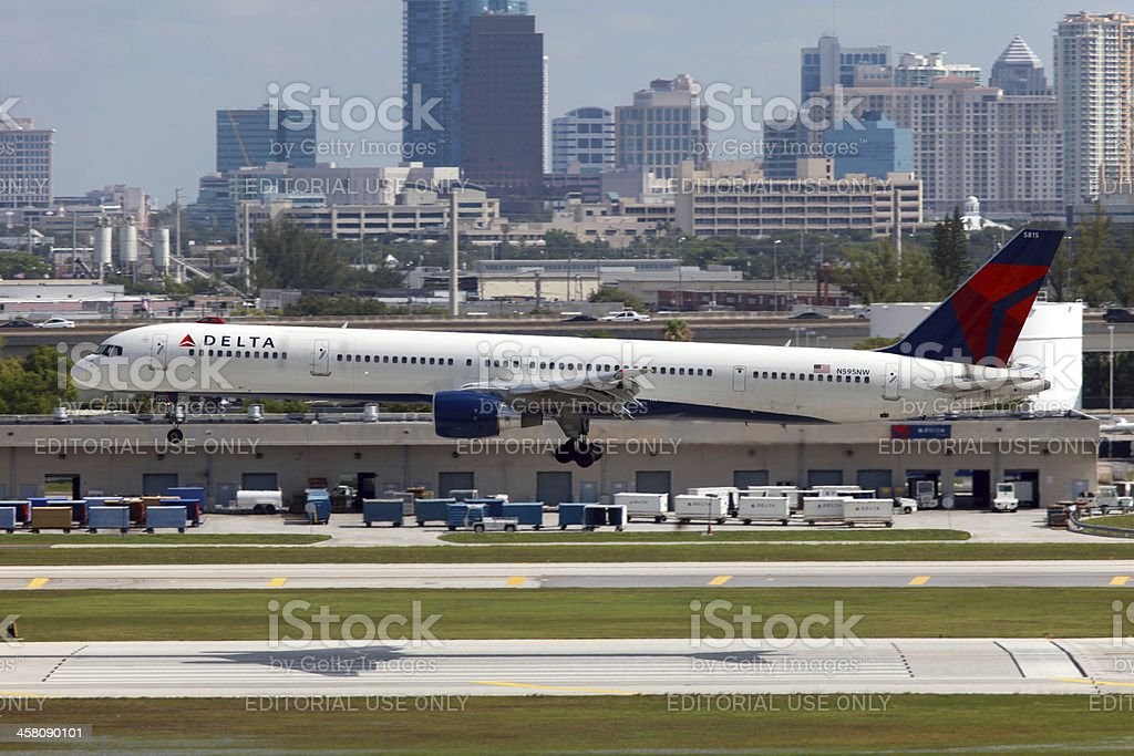 Delta Air Lines Boeing 757 royalty-free stock photo
