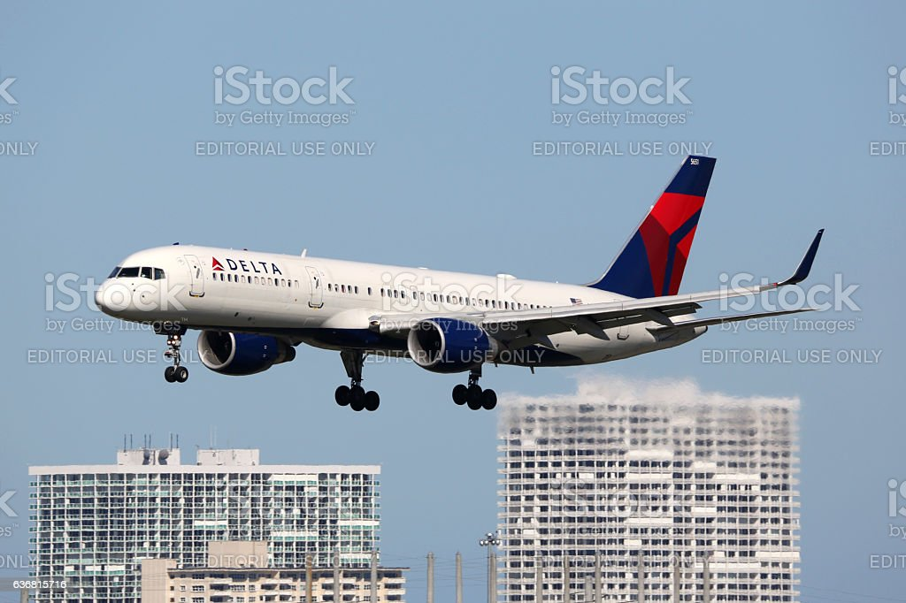 Delta Air Lines Boeing 757-200 airplane stock photo