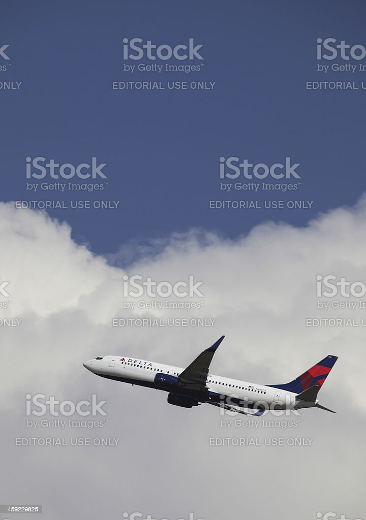 Delta Airlines 737 stock photo