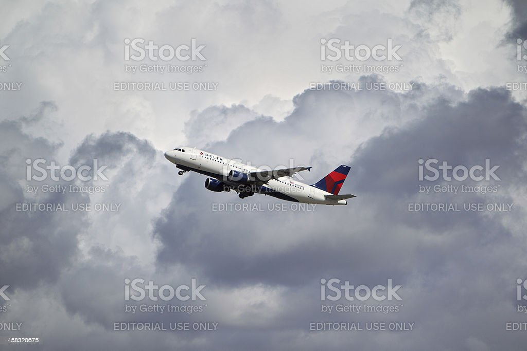 Delta Airlines Airbus A320-212 royalty-free stock photo