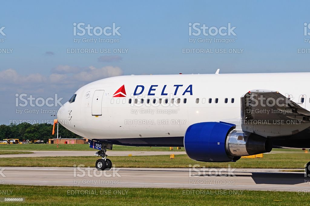 Delta Airlines Boeing 767. stock photo