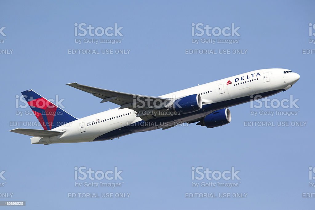 Delta Airlines Boeing 777-200LR stock photo