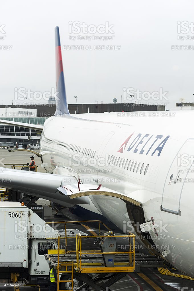 Delta Airlines - Sea-Tac Airport royalty-free stock photo