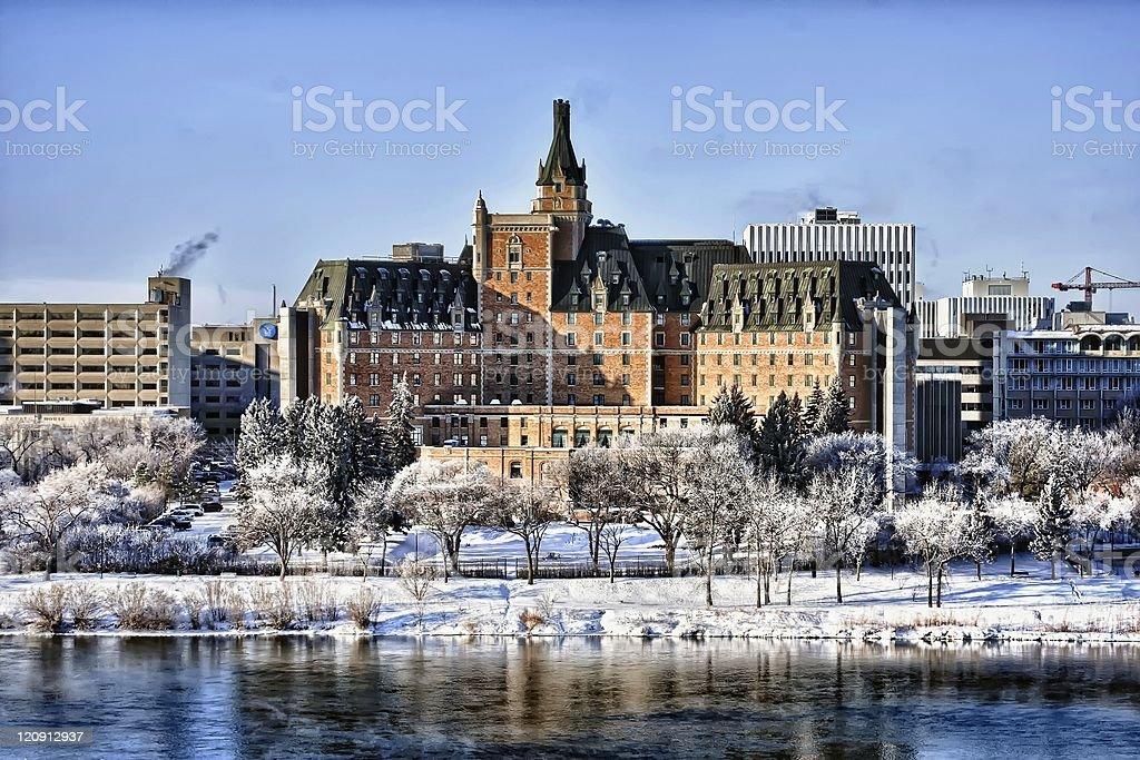 Delta Bessborough Hotel, Saskatoon stock photo