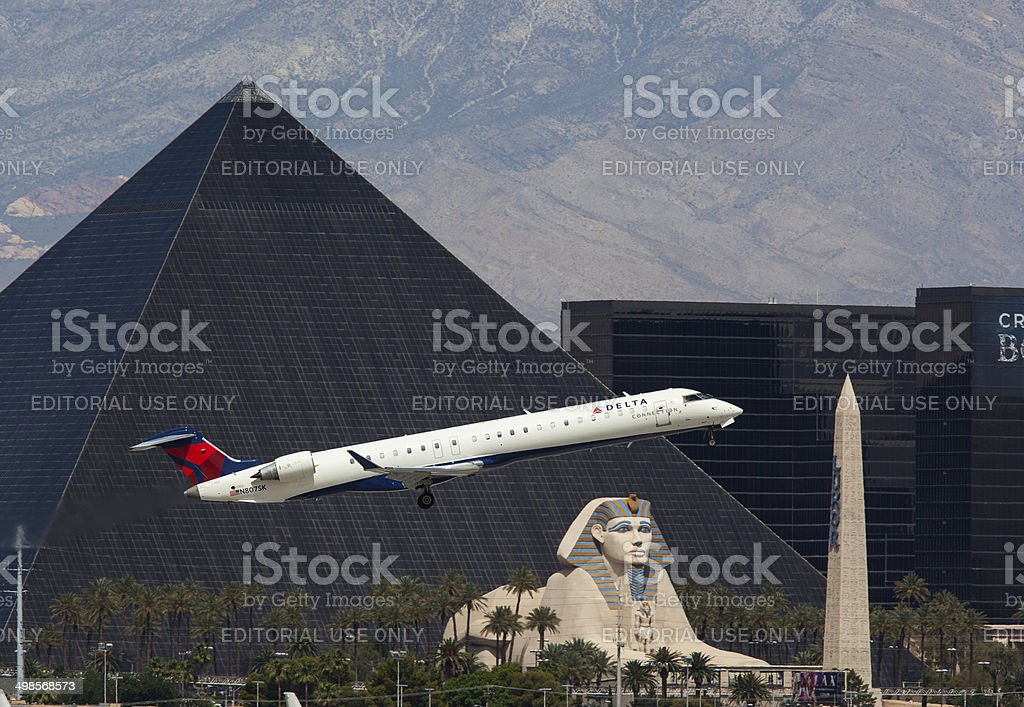 Delta CRJ Las Vegas. stock photo