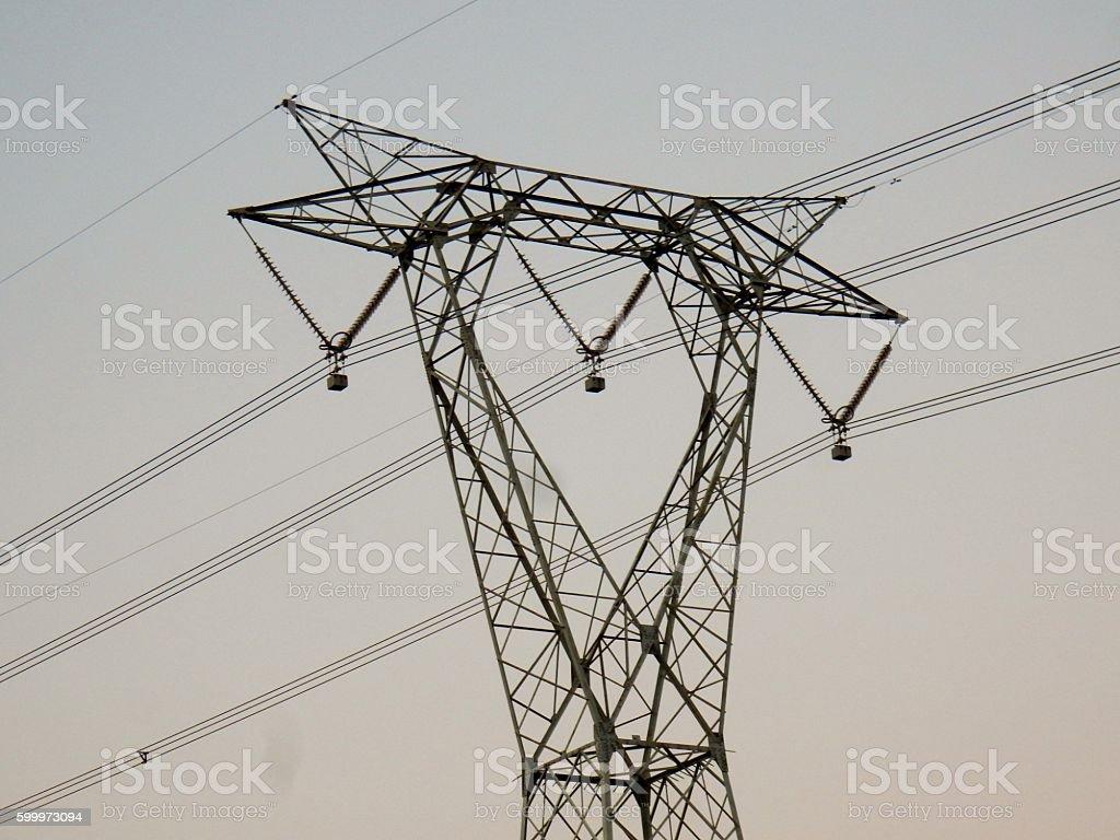 Traliccio elettrico a delta stock photo