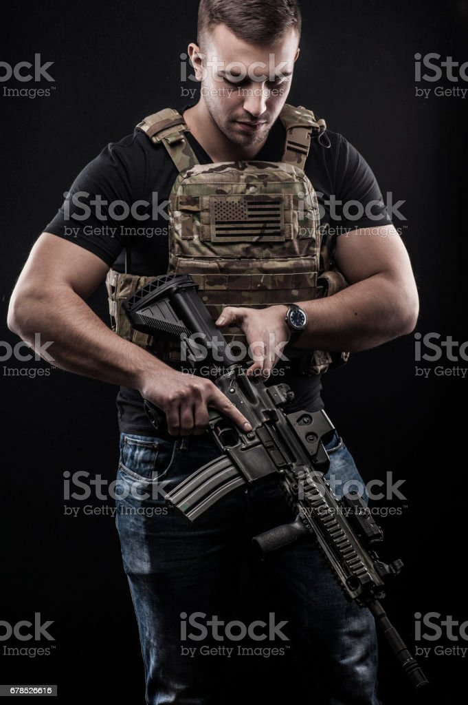 Delta Force soldier stock photo