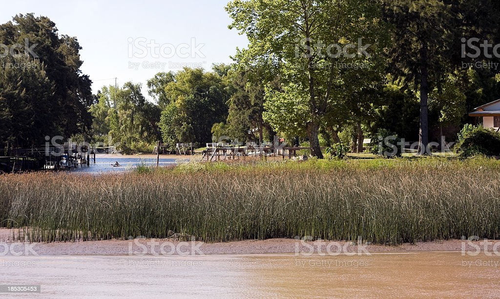 Delta of Paraná River stock photo