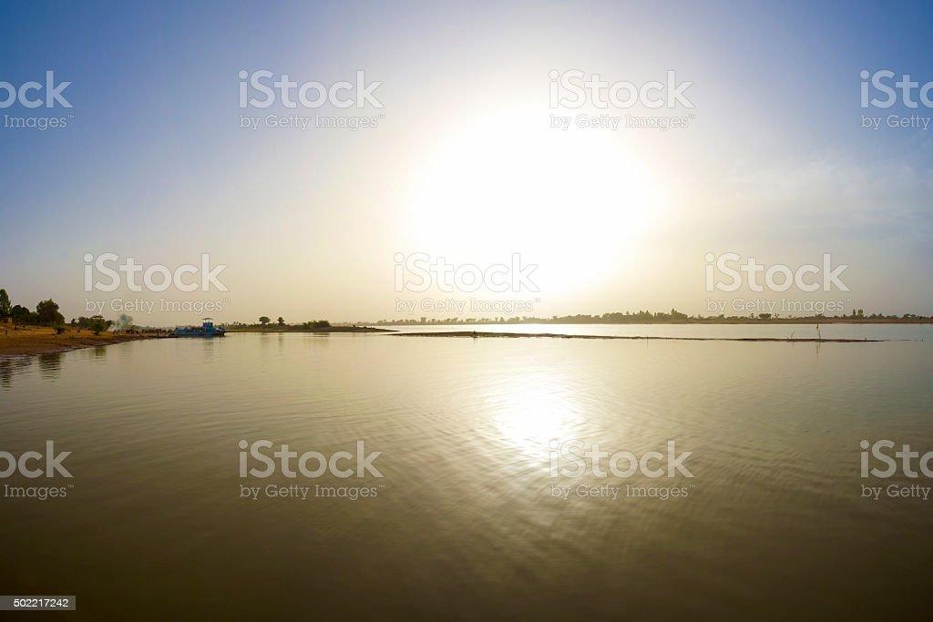 Delta of river Niger in Djenne, Mali stock photo