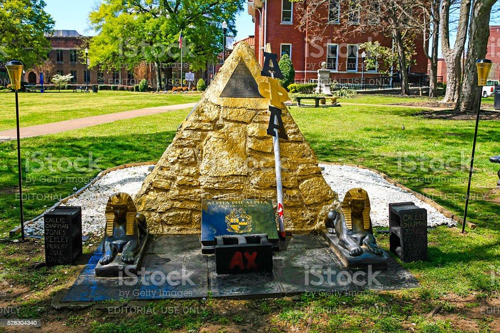 Delta Sigma Theta Sorority pyramid on Fisk University campus, Nashville stock photo