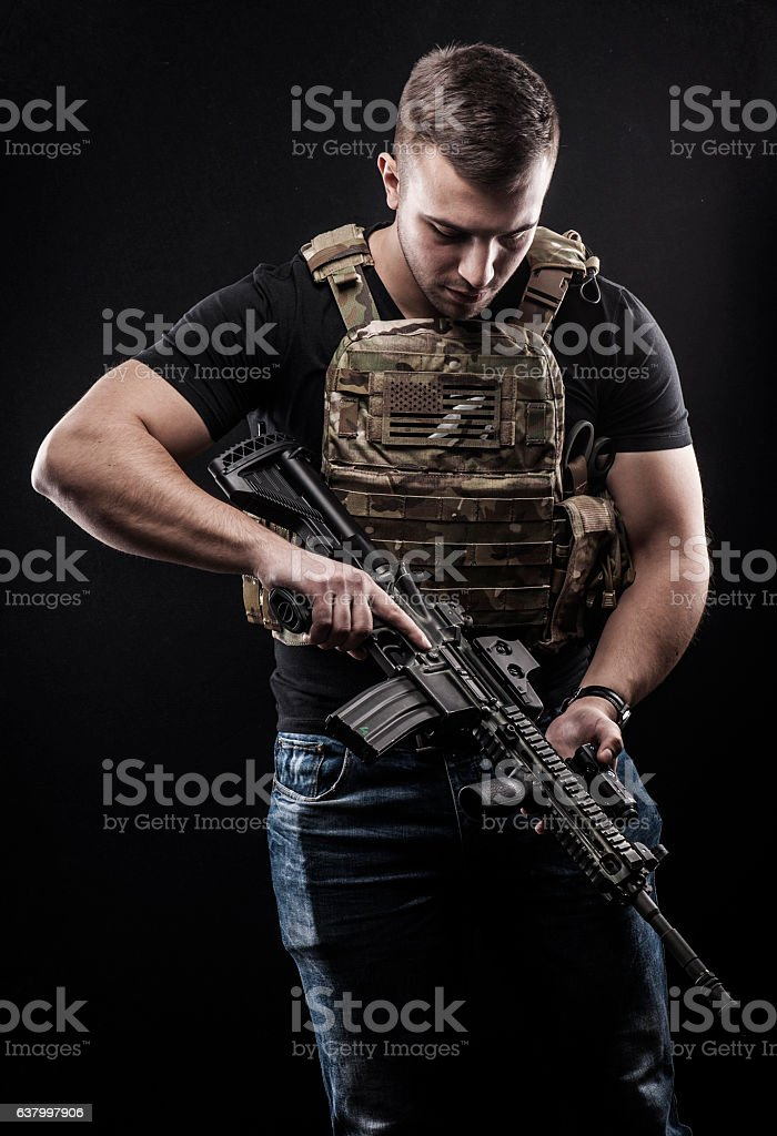 USA Delta special forces stock photo