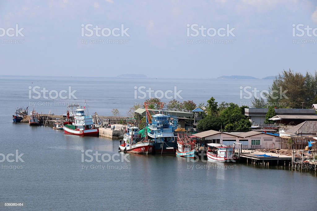 Delta where it meets the sea. Rayong,Thailand. stock photo