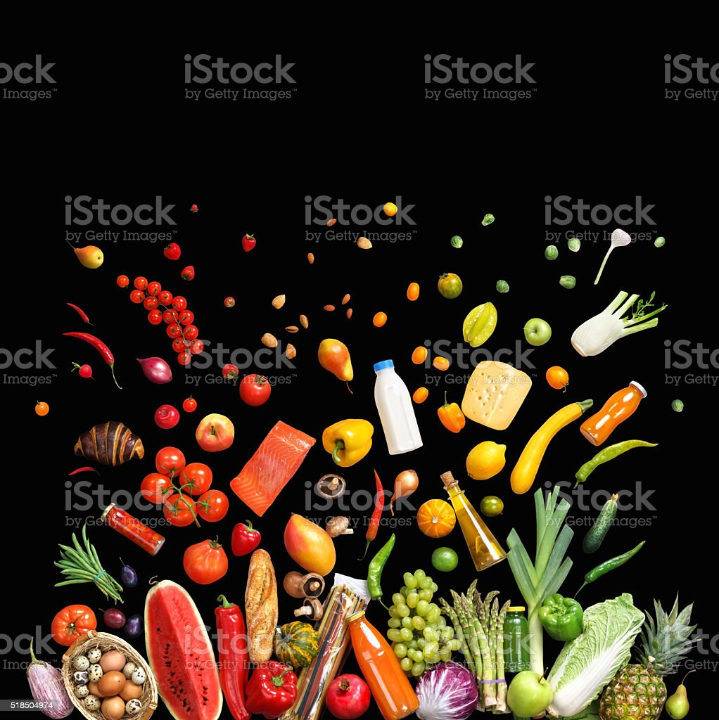 Deluxe food background. stock photo
