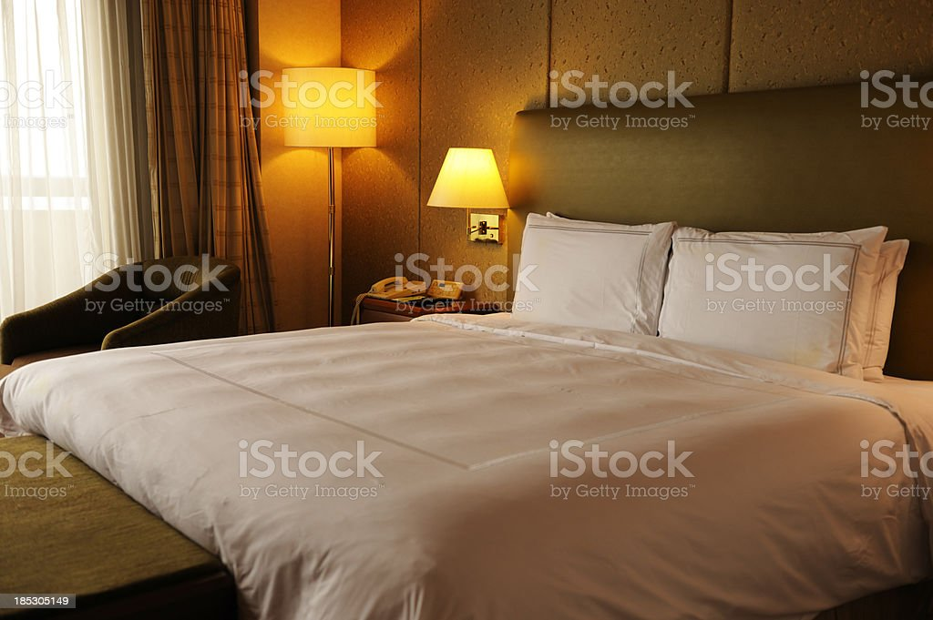 Deluxe hotel room royalty-free stock photo