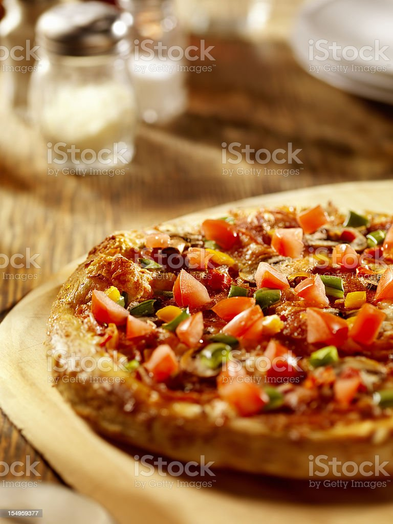 Deluxe Pizza royalty-free stock photo