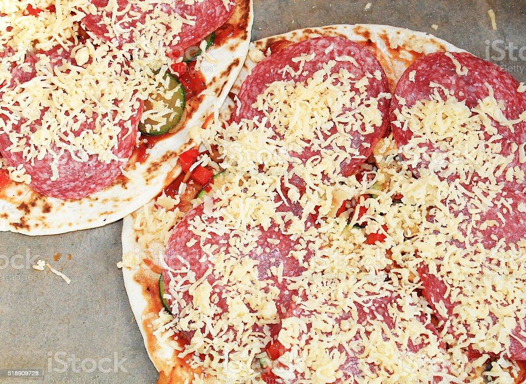 Deluxe Pizza stock photo