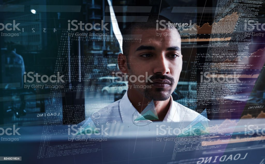 Delving deeper into the code stock photo