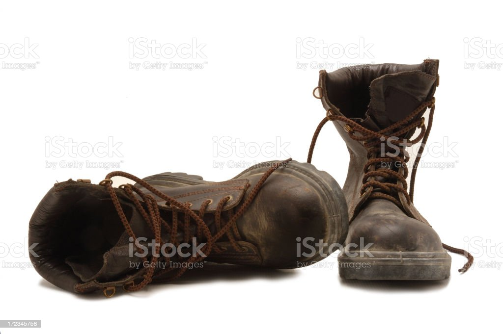Dem boots are made for working stock photo