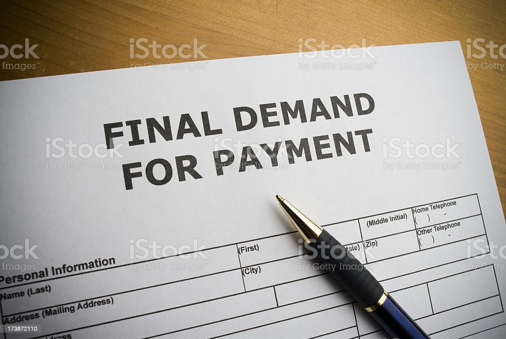 Demand for  Payment form royalty-free stock photo