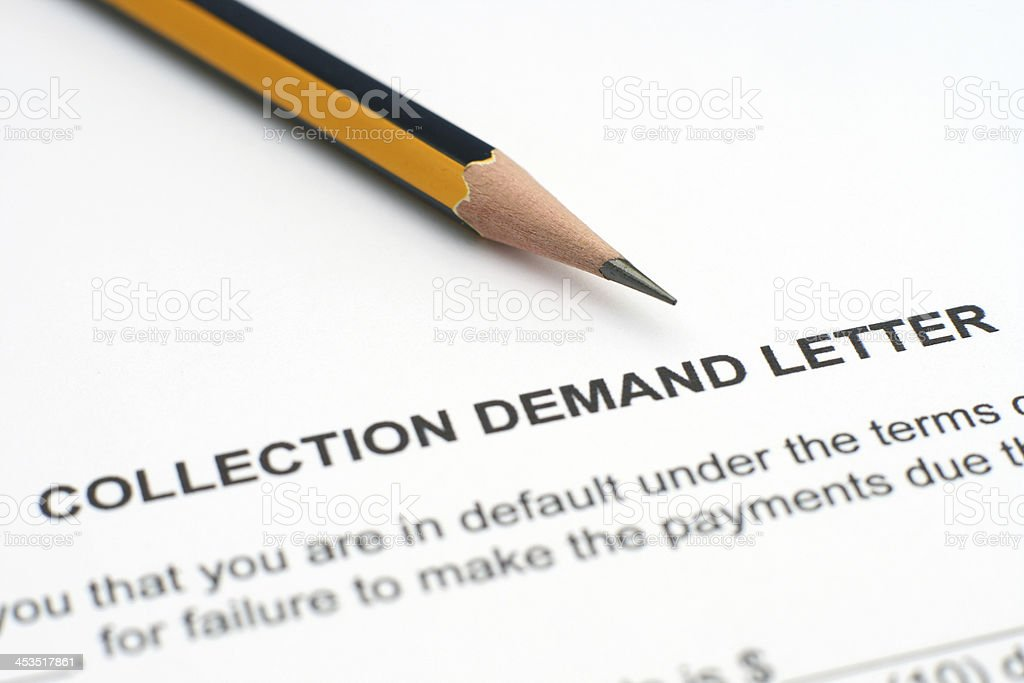 Demand letter stock photo