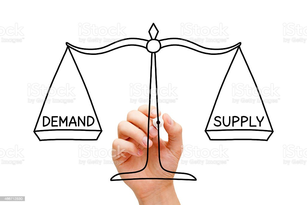 Demand Supply Scale Concept stock photo