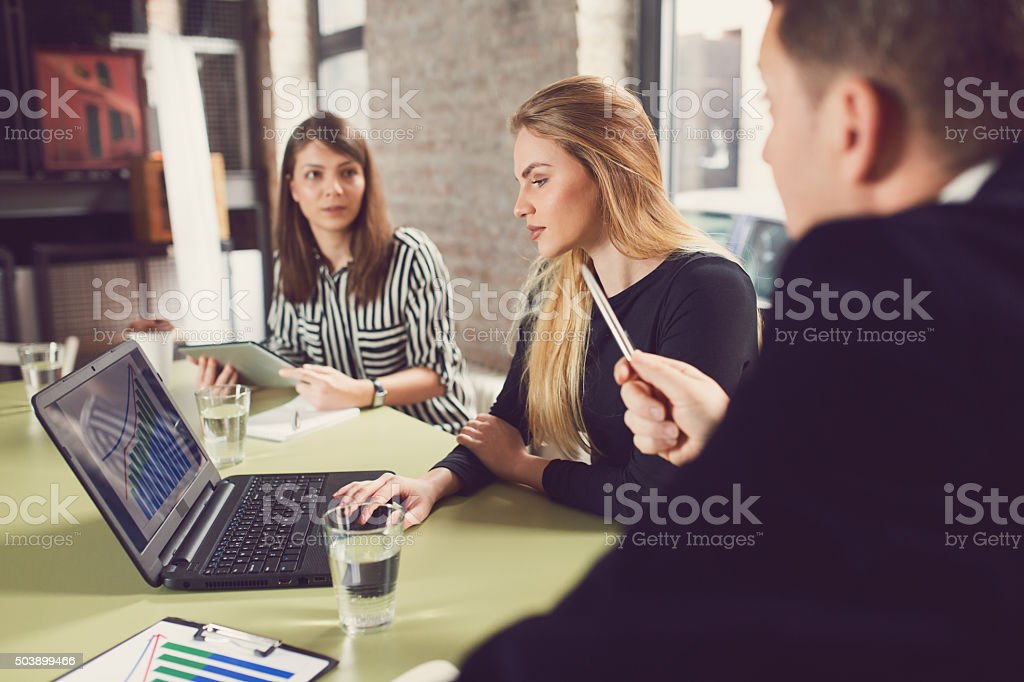 Demanding Boss stock photo