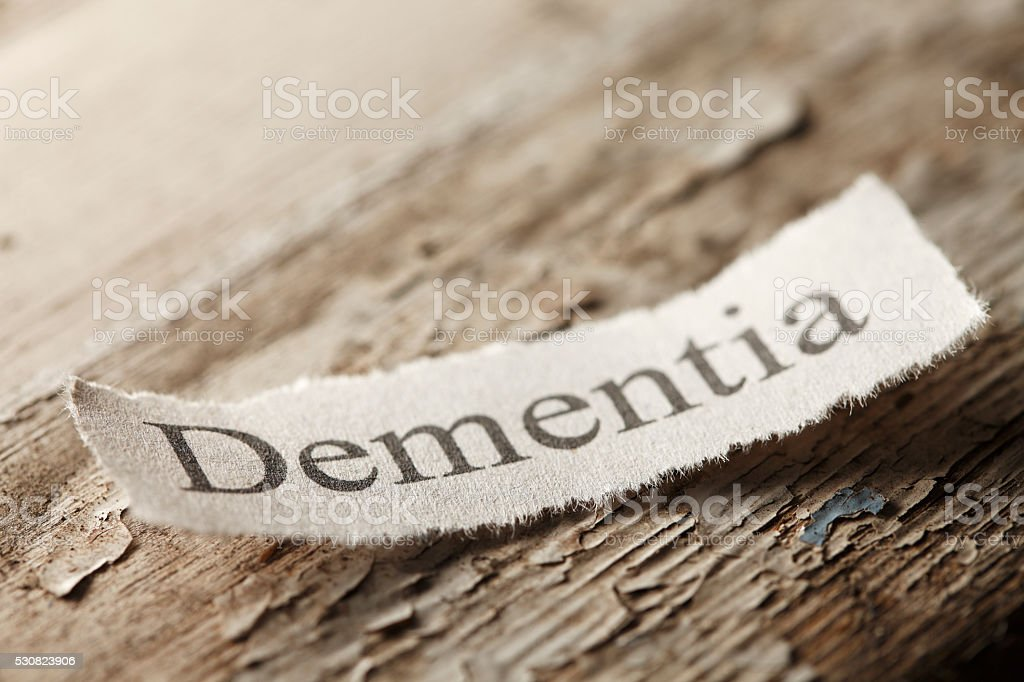 Dementia Concept stock photo
