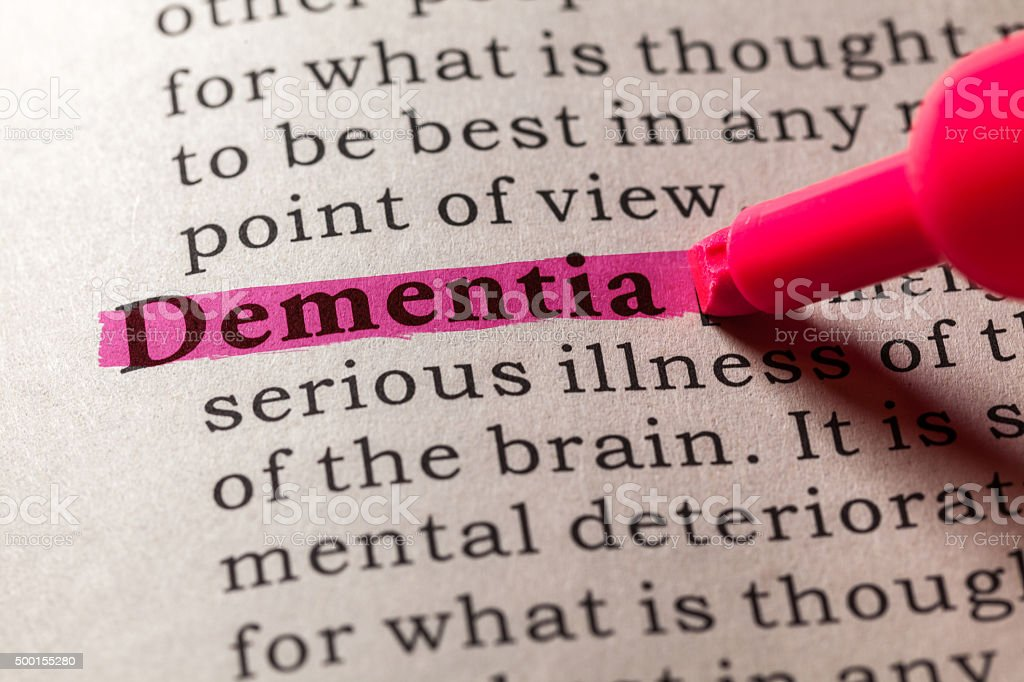 dementia stock photo