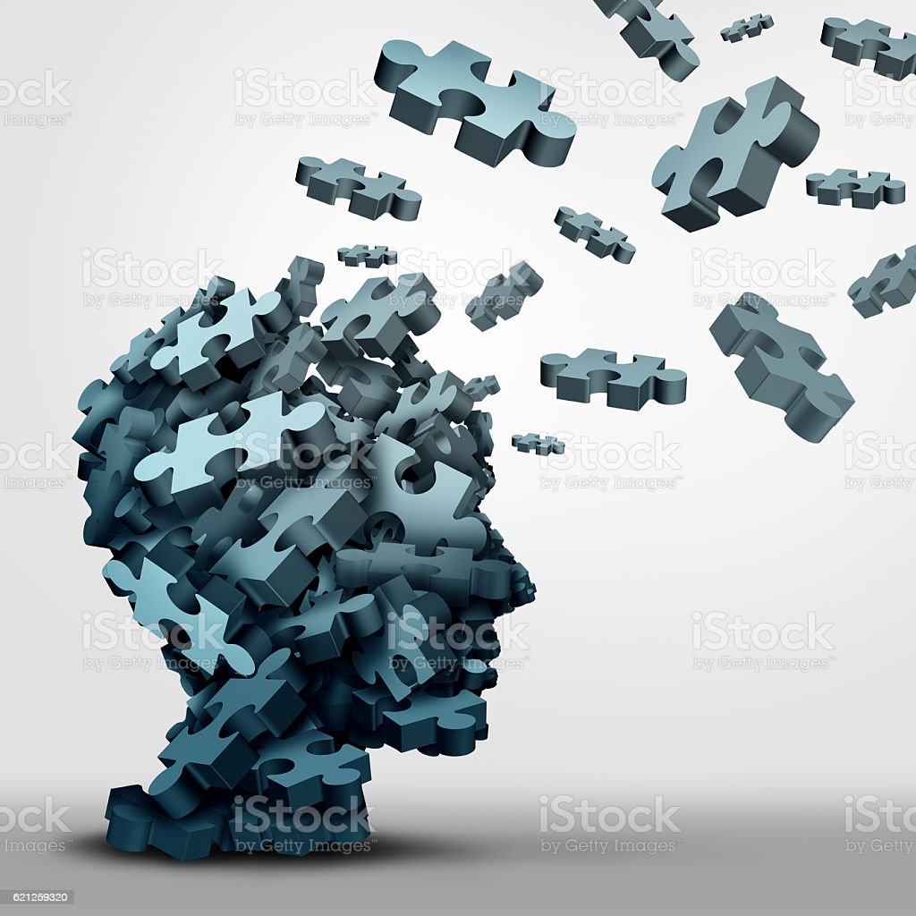Dementia Puzzle Concept stock photo