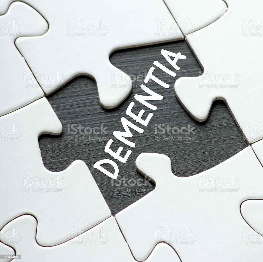 Dementia Puzzle stock photo
